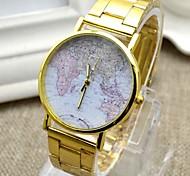 Masculino Relógio de Pulso Digital Aço Inoxidável Banda Dourada marca-