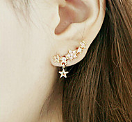 New Arrival Fashional Rhinestone Star Earrings