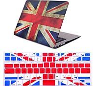 "2 em 1 bandeira retro tampa de plástico rígido completa cobertura + teclado para MacBook Air 11 ""pro 13"" / 15 """