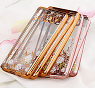 For Samsung Galaxy Note Plating / Transparent Case Back Cover Case Flower TPU Samsung Note 5 / Note 4 / Note 3