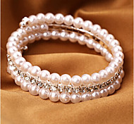 Fashion Jewelry Rhinestone Pearl Bracelet