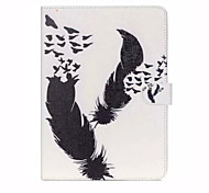 Black White and Double Feather TPU Textile Cloth Card Slot Stents The Cladding For Apple iPad Mini 4