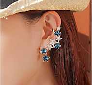 New Arrival Fashional Rhinestone Crystal Star Earrings