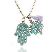 Designer Jewelry Life Tree Evil Eye Hand Pendant Necklace Elegant