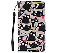 kitten Painted PU Phone Case for Galaxy A5/A3