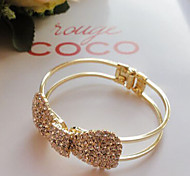 Fashion Jewelry Rhinestone Bow Bracelet
