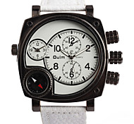 Black Belt Of White Quartz Activity Men'S Fashion Watches Gift Watches