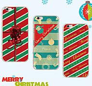 maycari®atmosphere del día de Navidad suave TPU transparente trasera para el iPhone 6 6s / iphone (colores surtidos)