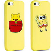 iFashion® Yellow Color Big Eye Small Foam And Pocket Bear Pattern Silicone Soft Case for iPhone 5/5s