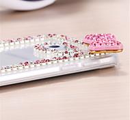 brilho de diamante bowknot padrão de volta caso para Samsung Galaxy S3 / S4 / S5 / S6 / S6 borda / beira S6 mais