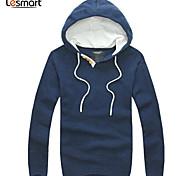 Lesmart Hommes Col Arrondi Manche Longues Pull & Cardigan Bleu foncé - CX13200