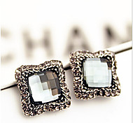 New Arrival Fashional Retro Square Gem Earrings