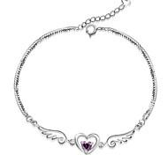 S925 Pure Stering Silver Angel Wings Shape Bracelet,Fine Jewelry Christmas Gifts