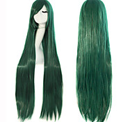 Cosplay Long Straight Hair High Temperature Wire Dark Green Synthetic Wig Hot Sale.