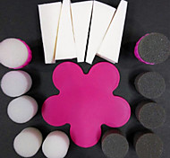 1 Set  Creative Nail Gradient Sponge Nail Set(3pcs Sponge Chapter+1pcs Plum Pad)