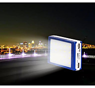 SUNWALK 12800mAh 2 in 1 12800mAh Mobile Power Bank Solar Charger with Camping Light