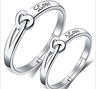 Муж. Женский Для пары Кольца для пар бижутерия Стерлинговое серебро Бижутерия Назначение Свадьба Для вечеринок Повседневные