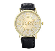 Men's Fashion Personality Quartz Analog Leather Pierced Bracelet Watch Wrist Watch Cool Watch Unique Watch