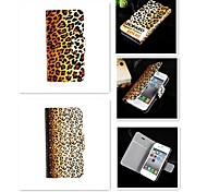 Tiger Leopard Grain Design PU Leather Full Body Case for iPhone 5/5S