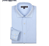 JamesEarl Men's Shirt Collar Long Sleeve Shirt & Blouse Blue - DA112030804