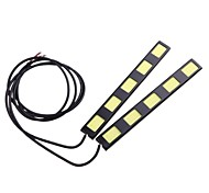 2Pcs 15CM 10W COB 5 LED Car Daytime Running Light Bar DRL Driving Lamp(DC12V)