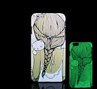 Girl Pattern Glow in the Dark Hard Plastic Back Cover for iPhone 6 for iPhone 6s Case