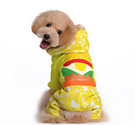 Dog Coat / Hoodie / Clothes/Jumpsuit / Clothes/Clothing Multicolored Winter Cartoon Waterproof / Fashion / Keep Warm