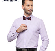 JamesEarl Men's Shirt Collar Long Sleeve Shirt & Blouse Purple - MC1ZC001233