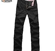 Lesmart Hommes Droite Pantalon Noir - MDMK1235