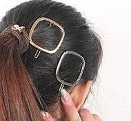Women Minimalist Fashion Metal Geometric Box Hairpin Hair Accessories 1pc
