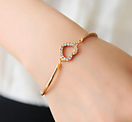 Fashion Jewelry Rhinestone Heart Bracelet