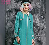 ELFSACK Femme Col Arrondi Manche Longues Laine et Mélanges Bleu / Rouge - 1432091