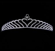 Sweet Heart AAA CZ Tiara Bridal Wedding  Hair Jewelry Accessories Princess CrownsImitation Diamond Birthstone
