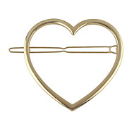 Gold Silver Plated Heart Shape Hair Jewelry