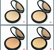 4 Natural Face Powder Cake Pressed Makeup Powder Dry Concealer Beauty Skin Finish Bronzer(Assorted Colors)