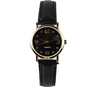 Beautiful Black Leather Ladies Watch