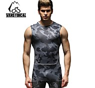 Vansydical Men's Quick Dry Fitness Tops White / Gray / Black / Blue / Dark Blue