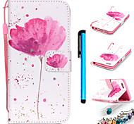 farbige Zeichnung PU-Leder mobilen Holster einschließlich Anti-Staub-Stecker Schreibkopf für iphone 5 / 5s