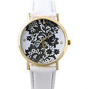 2016 vogue watches flower print popular women leather strap geneva watch Cool Watches Unique Watches