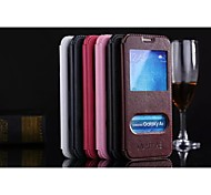 For Samsung Galaxy Case with Stand / Flip Case Full Body Case Solid Color PU Leather Samsung A8