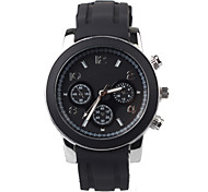 Black Silicon Tape Leisure Men's Watch