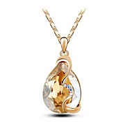 Women Necklace ELegant Crystal Water Drop Pendant Necklace