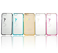 For iPhone 6 Case / iPhone 6 Plus Case Plating / Transparent / Pattern Case Back Cover Case Cartoon Hard PCiPhone 6s Plus/6 Plus / iPhone