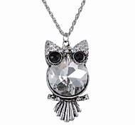 The Explosion Of The Owl Diamond Necklace High-Grade Crystal Necklace