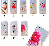 Colored drawing TPU labeled with sequins Soft Phone Case for iPhone 6 plus/s plus