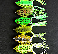6pcs 60mm 16g Fishing Bait Frog Lure Random Color