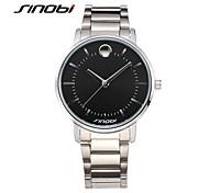 SINOBI® Gents Dress Wristwatches Brand Watches Silver Band Metal Nails Men's Business Quartz Watch Montre Reloj Wrist Watch Cool Watch Unique Watch