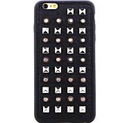 série couro rebite prata-redondas pontos TPU tampa traseira macia para o iPhone 5 / 5s