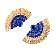 Earring Stud Earrings Jewelry Wedding / Party / Daily Alloy 1 pair Dark Blue / Gold
