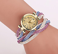 Xu ™ de terciopelo de Corea mujeres de alrededor de los remaches reloj pulsera de cuarzo